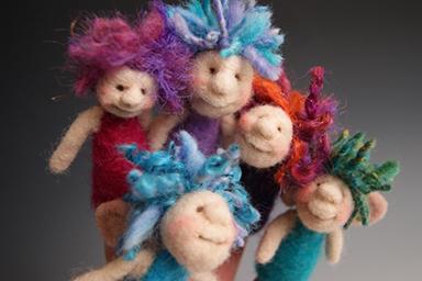 needle felted finger puppet fairies video tutorial