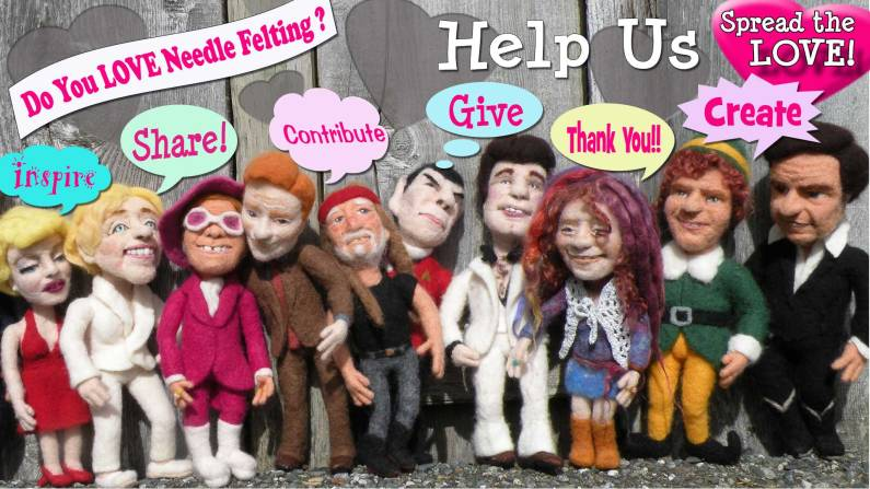 needle felting projects - create share, contribute, give, inspire