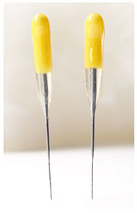 YELLOW All-Purpose 40t SINGLE Point Felting Needles - 2 Pack