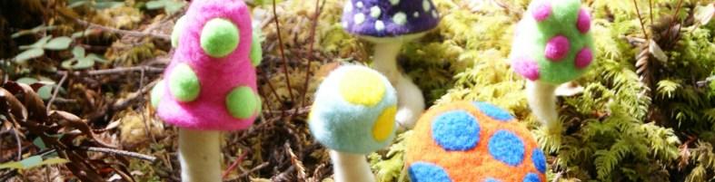 needle felted mushrooms