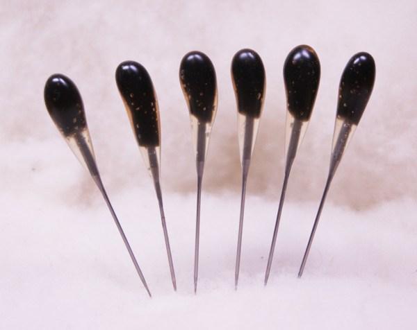 BLACK Heavy Duty 36t SINGLE POINT Felting Needles - 6 PACK