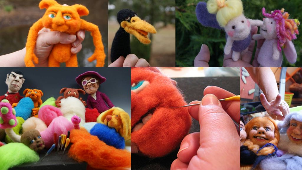 intro to sculptural needle felting - live felt alive needle felting workshops