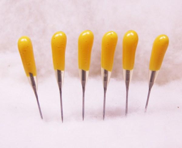 Yellow 40t Felting Needles 6 Pack