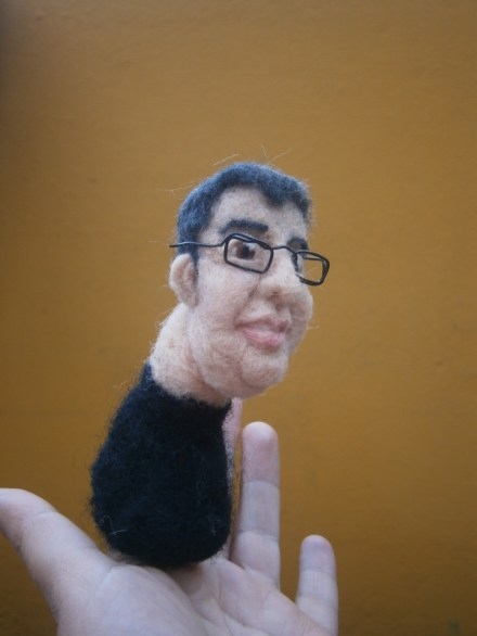 Student Project needle felted finger puppet