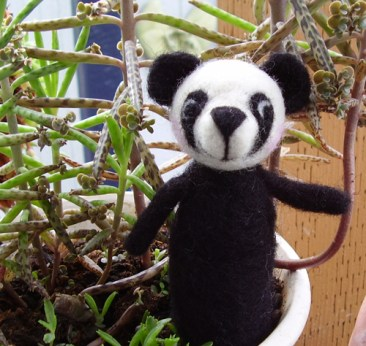 Student Project! needle felted finger puppet
