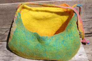 nuno felted handbag