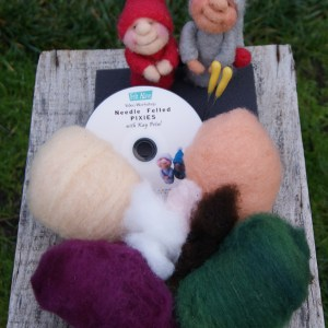 Needle Felting Kit for Felt Alive Pixies Video Tutorial