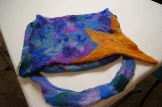 nuno felted class - seamless handbags