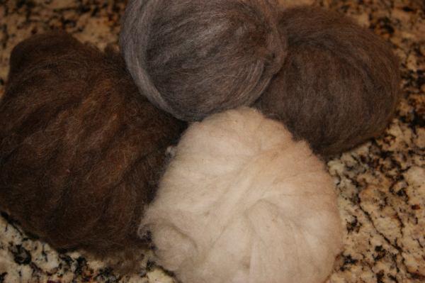 shetland wool roving