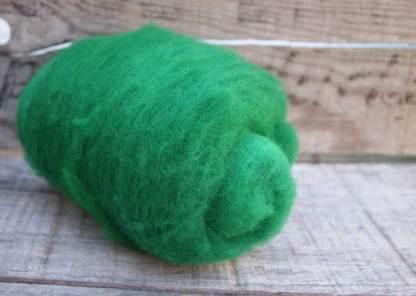 emerald green needle felting wool