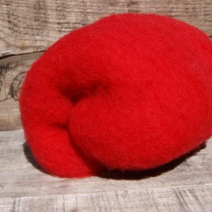 Red Needle Felting Wool
