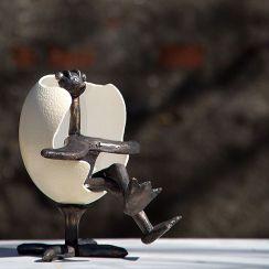 Ægget struds i stol