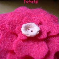 Peony Flower Felt Clip Tutorial + Template