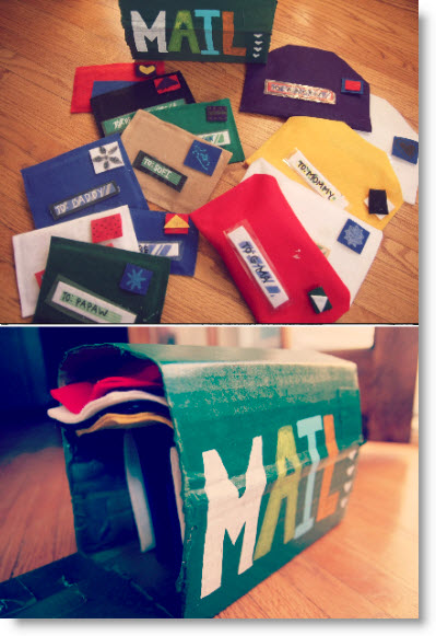 Easy, No-Sew Mail and Play Mailbox tutorial