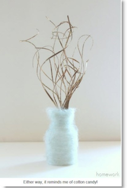 mohair wrapped vase