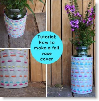 felt vase cover