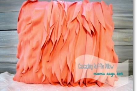 Cascading Ruffle Pillow