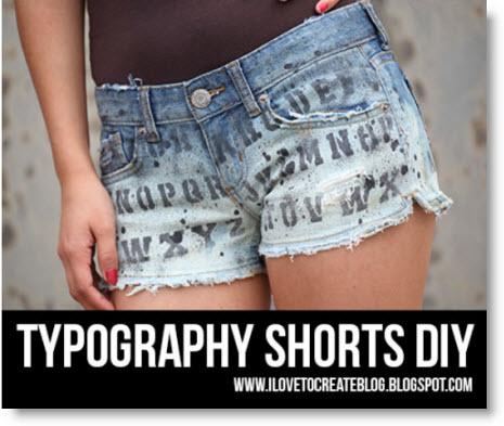 typography shorts