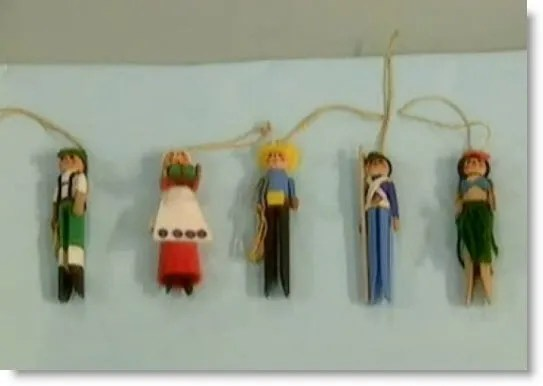 clothespin playful doll ornaments  video tutorial