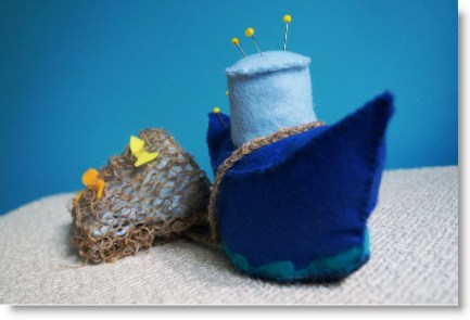 Felt Pin Cushion Boat