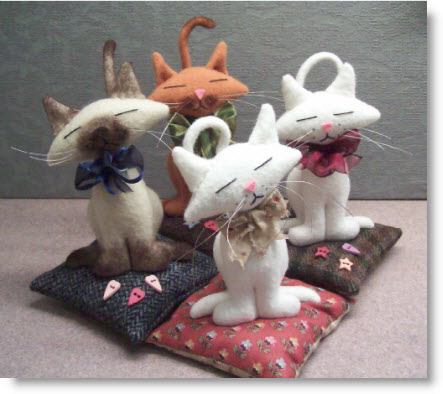 Free Project Kitty Kat Pincushion Pattern Amp Instructions