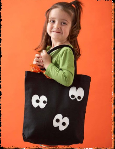 Googly Eye Trick-or-Treat Tote Bag for Halloween