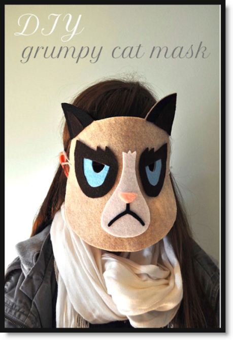 DIY Grumpy Felt Cat Mask