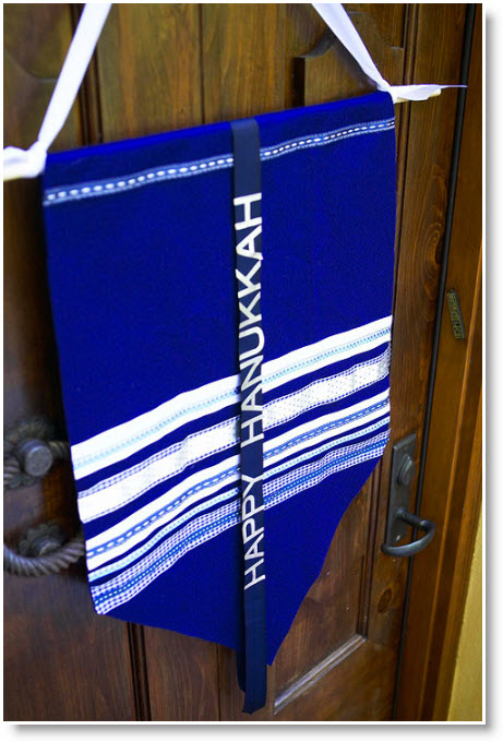 Handmade Hanukkah banner