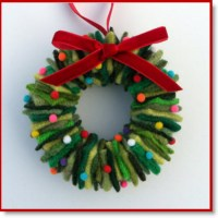 Sweater Christmas Wreath Ornament