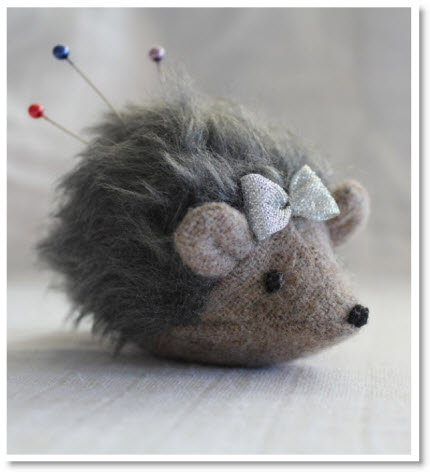 Make A Hedgehog Pincushion Tutorial Felting