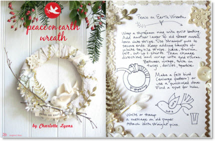 inspired-peace on earth wreath