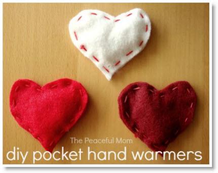 Felt Heart hand warmers