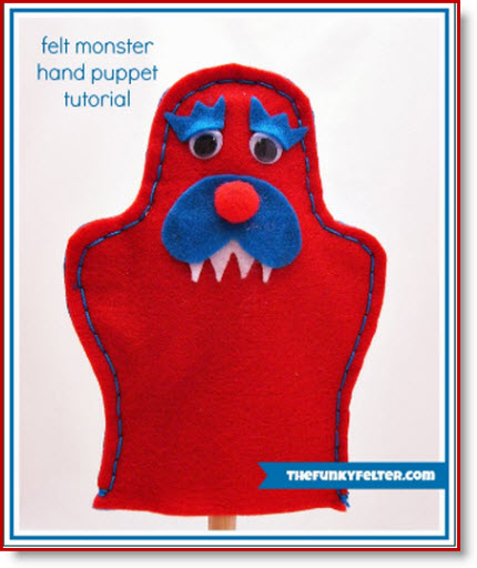 Felt Monster Puppet with FREE Pattern