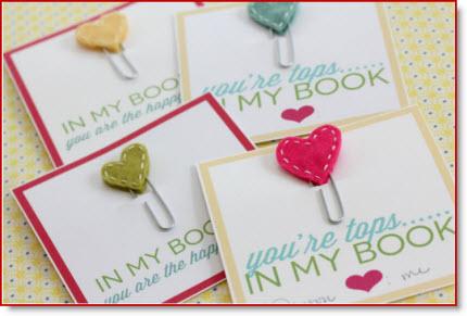 Heart Book Marks