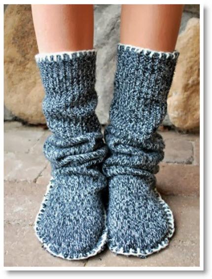 Sweater Slipper Boots