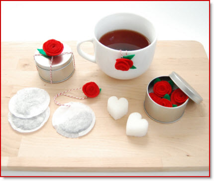 Custom Valentine's Day Tea Bags