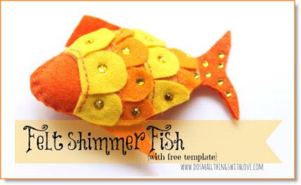 Felt shimmer fish