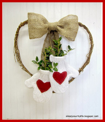 How I Up cycled a Sweater into a Valentine's Day Wreath