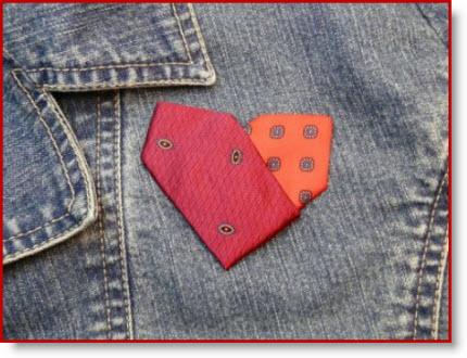 VD necktie Hearts