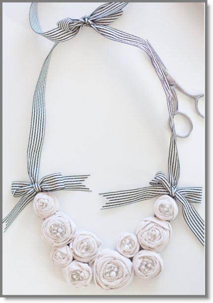 {Project} ~ Rosette Bib Necklace DIY