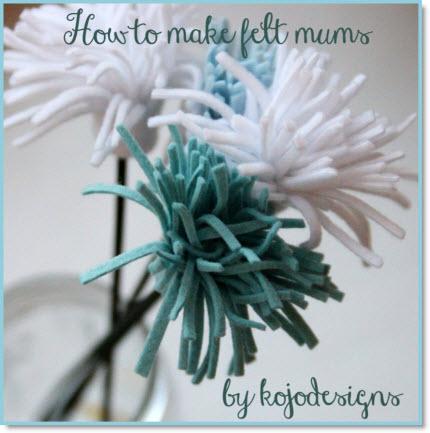 How to make felt flowers DIY