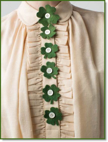 shamrock buttons cover