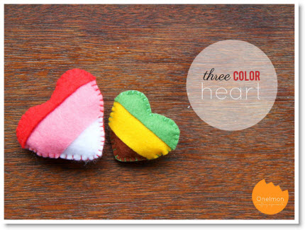 three color heart