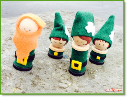 Leprechaun Peg Dolls