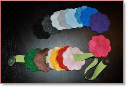 Felt Flowers Button Snake (learning) Tutorial