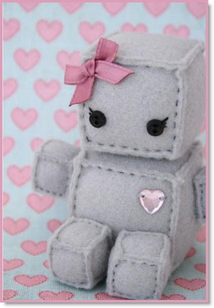 The most wonderful felt robot Tutorial