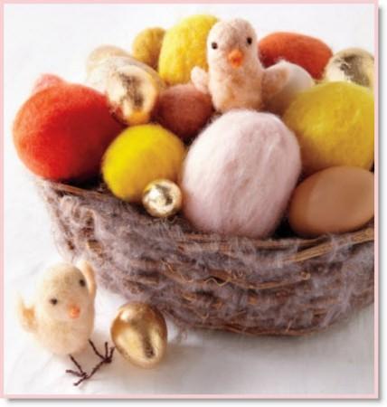 Felted Easter Eggs & Chicks