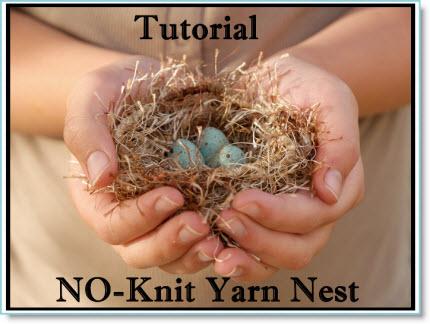 Fluffy Yarn Easter Nest