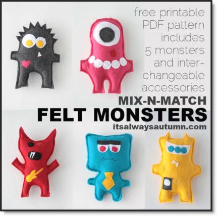 mix-n-match felt monster