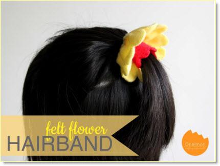 ponytail flower band